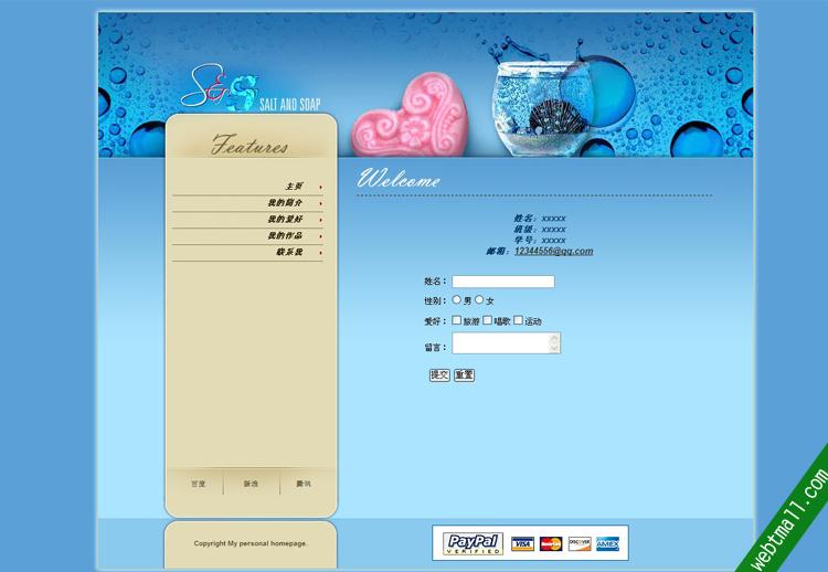 大学生静态网页设计作业