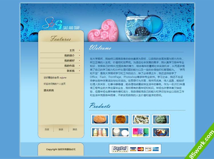 个人主页asp动态网页制作作业成品期末作业